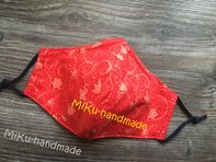 Maske_  Blumen-orange_Hamm
